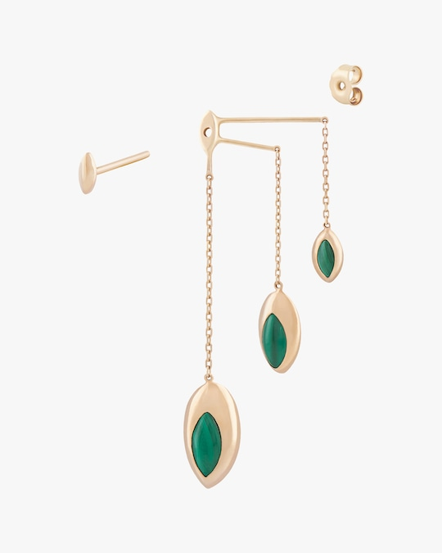 Marie Mas Swinging Triple Chain Earrings 0