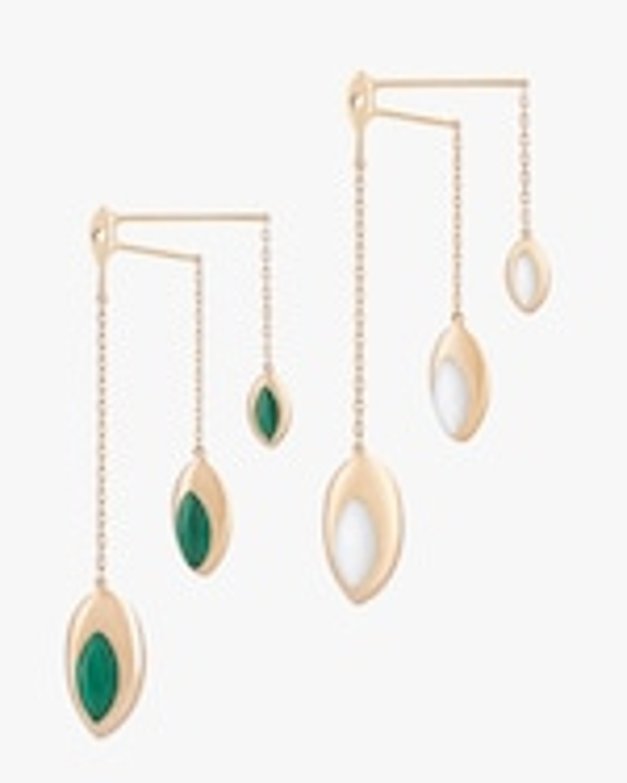 Marie Mas Swinging Triple Chain Earrings 2