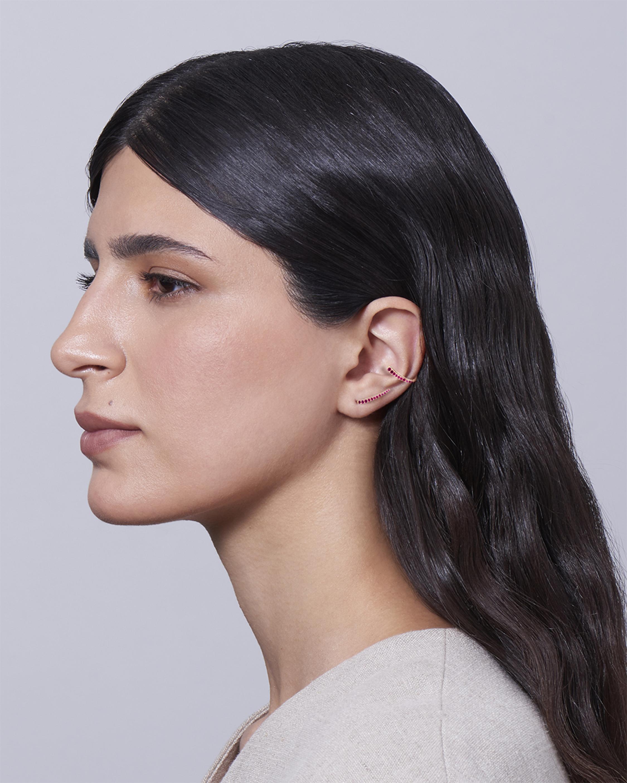 Marie Mas Single Ruby Ocean Tide Ear Jewel 1