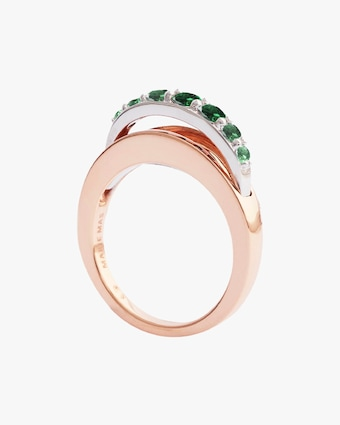 Marie Mas Emerald Ripple Wave Ring 2