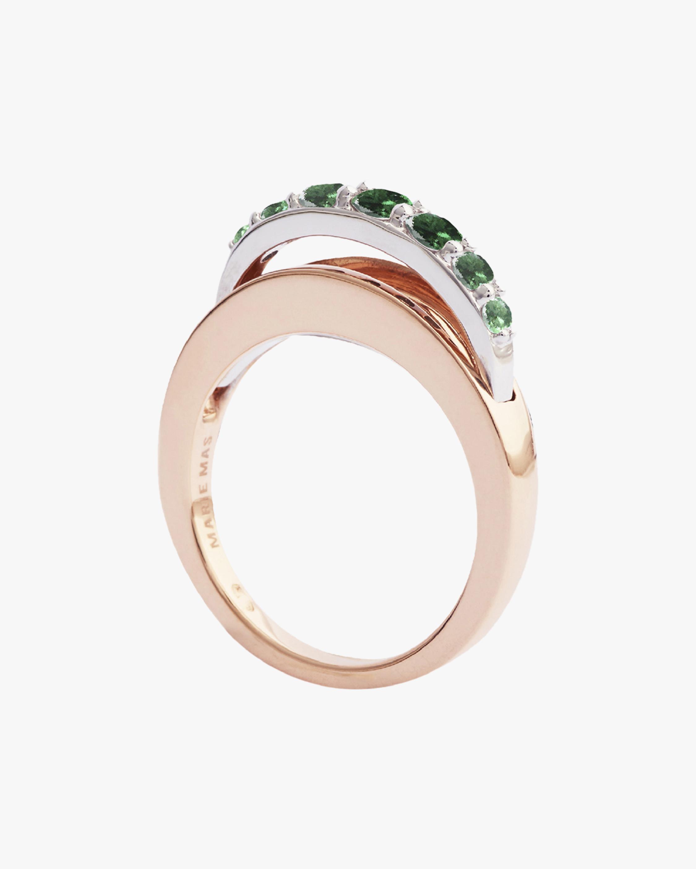 Marie Mas Emerald Ripple Wave Ring 2