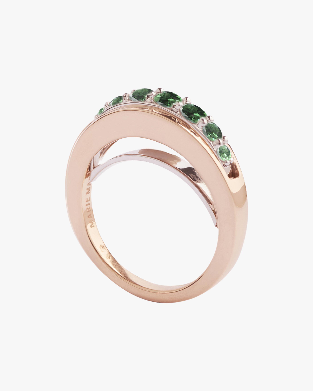 Marie Mas Emerald Ripple Wave Ring 0