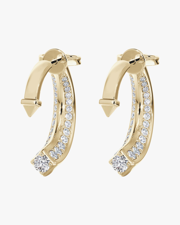 De Beers Forevermark Forevermark Avaanti™Arc Pavé Earrings 1