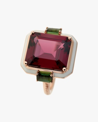 Selim Mouzannar One-of-a-Kind Rhodolite & Tourmaline Ring 1