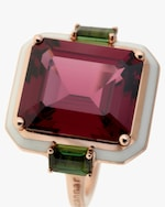 Selim Mouzannar One-of-a-Kind Rhodolite & Tourmaline Ring 2