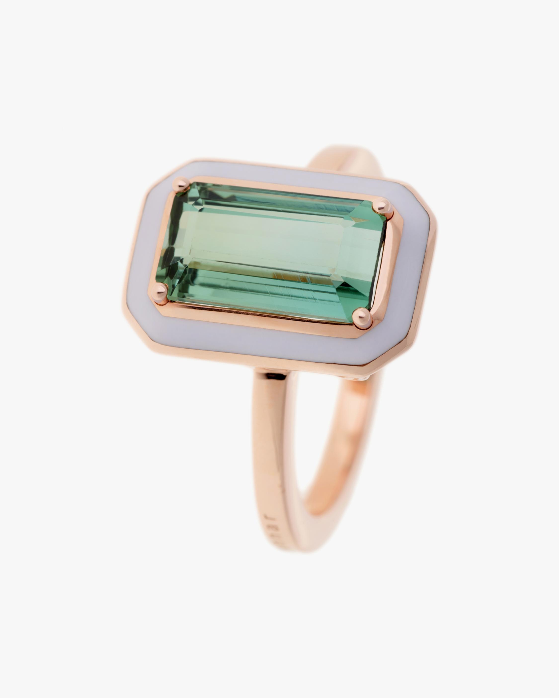 Selim Mouzannar One of a Kind Lilac Enamel & Beryl Ring 0