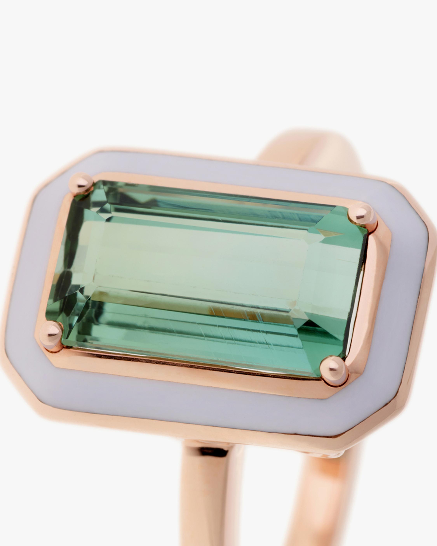 Selim Mouzannar One of a Kind Lilac Enamel & Beryl Ring 1
