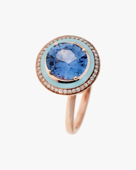 One of a Kind Diamond & Blue Sapphire Ring