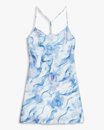 Noelle Wolf Mist Silk Slip Dress 1