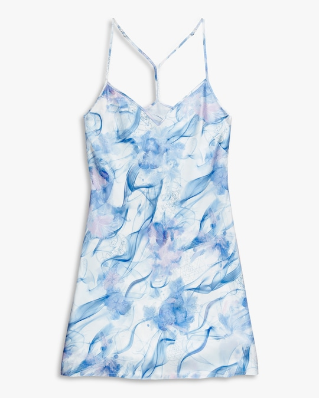 Noelle Wolf Mist Silk Slip Dress 0