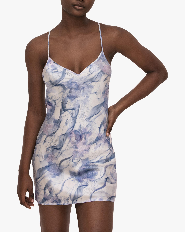 Noelle Wolf Mist Silk Slip Dress 1