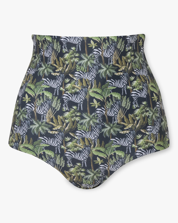 Verde Limón Totorri High-Waist Bikini Bottom 0