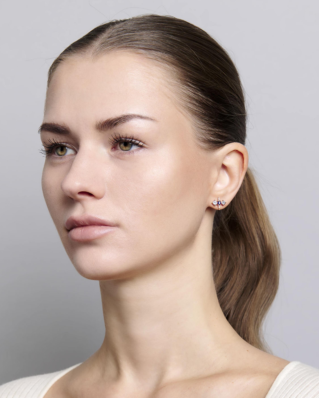 Sanjay Kasliwal Tanuja Sapphire & Diamond Stud Earrings 2