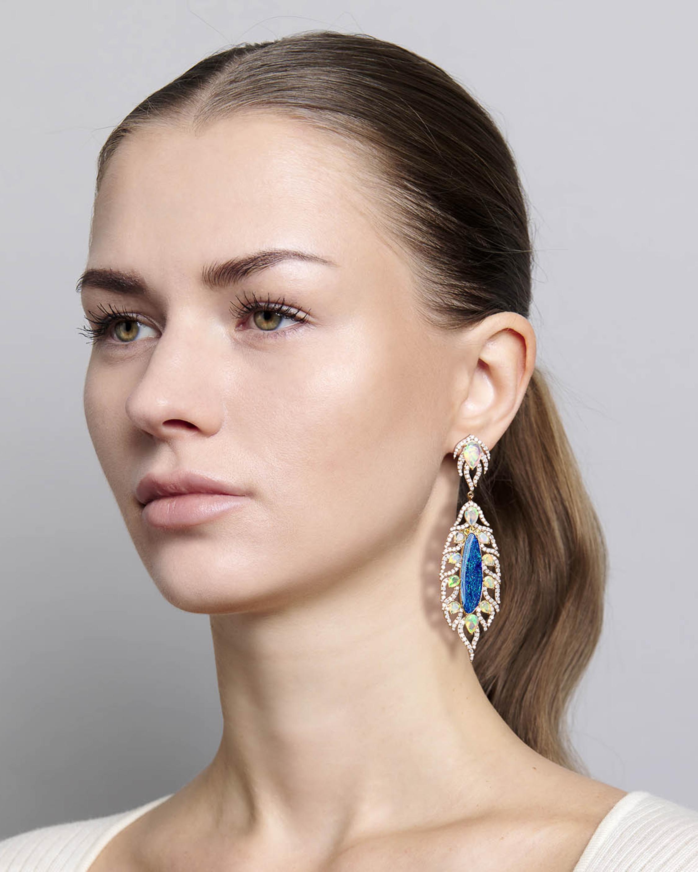Sanjay Kasliwal Zankhan Opal & Diamond Earrings 2