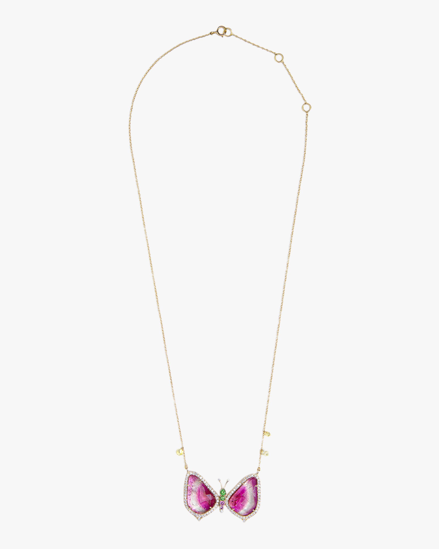 Sanjay Kasliwal Titli Tourmaline & Diamond Necklace 1