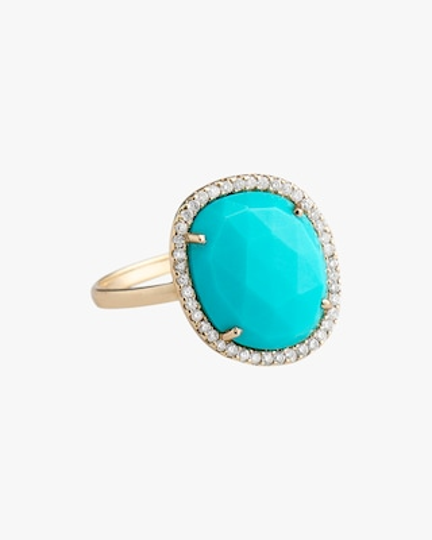 Sanjay Kasliwal Tushar Small Turquoise & Diamond Ring 1