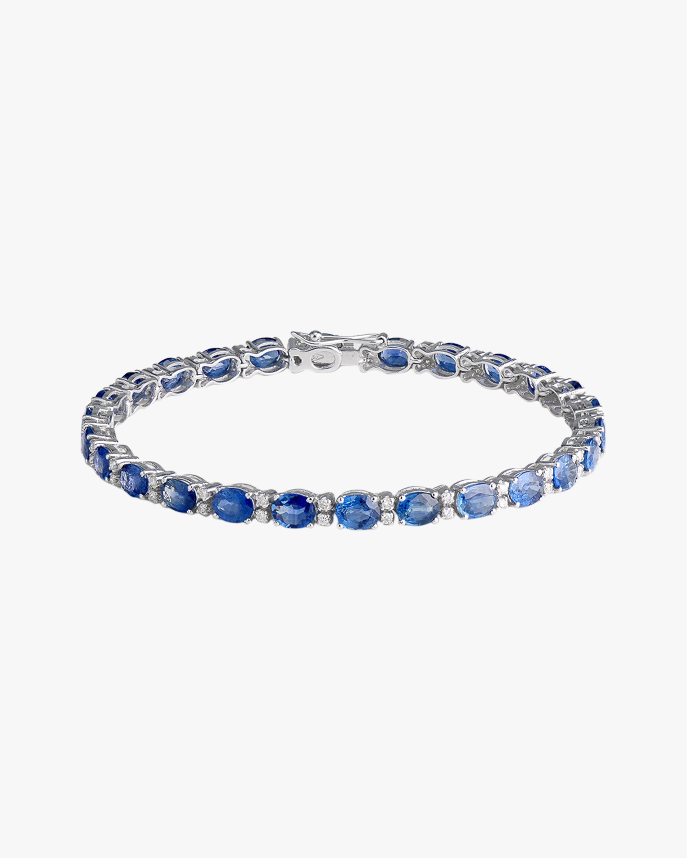 Sanjay Kasliwal Zoya Sapphire & Diamond Tennis Bracelet 1