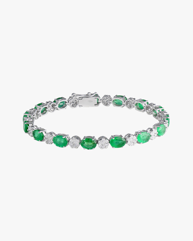 Sanjay Kasliwal Ryka Emerald & Diamond Bracelet 0