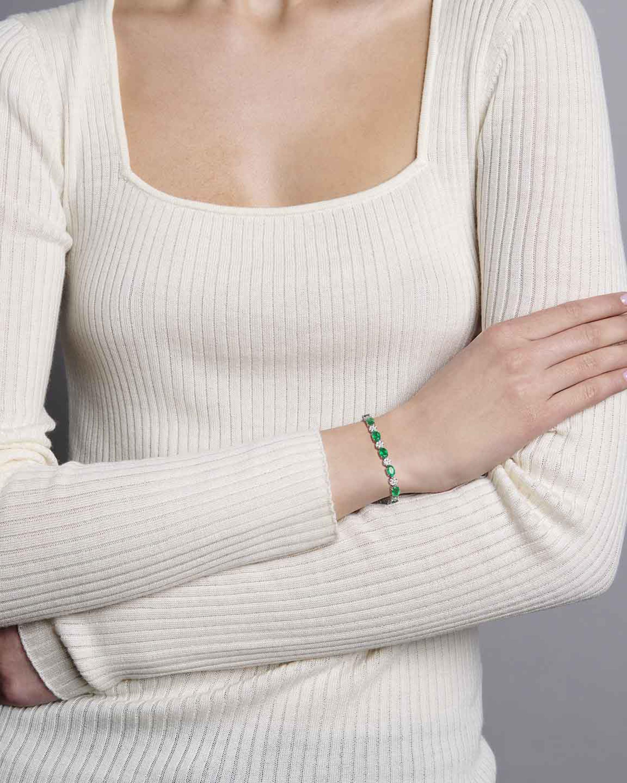 Sanjay Kasliwal Ryka Emerald & Diamond Bracelet 2