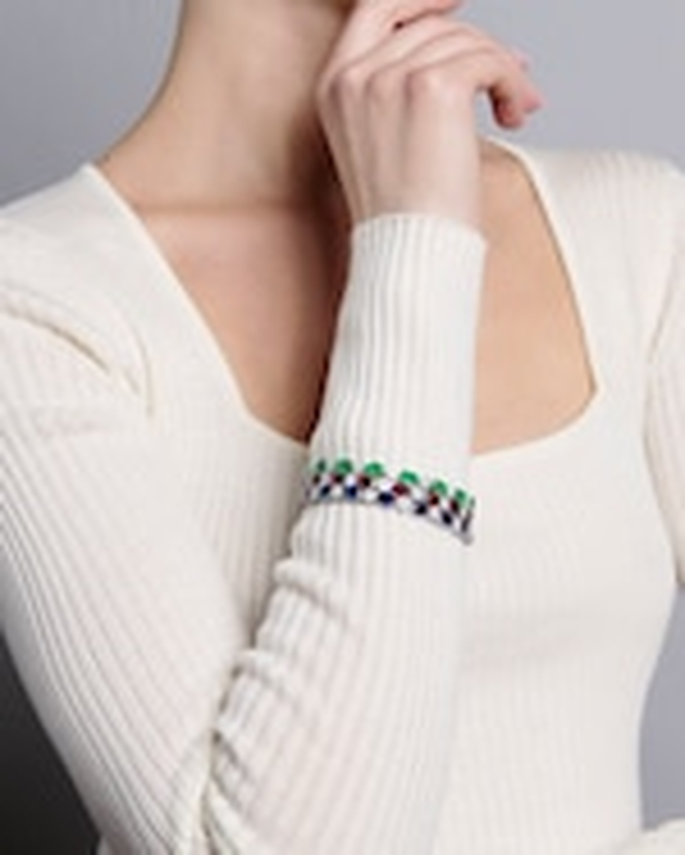 Sanjay Kasliwal Ryka Emerald & Diamond Bracelet 3
