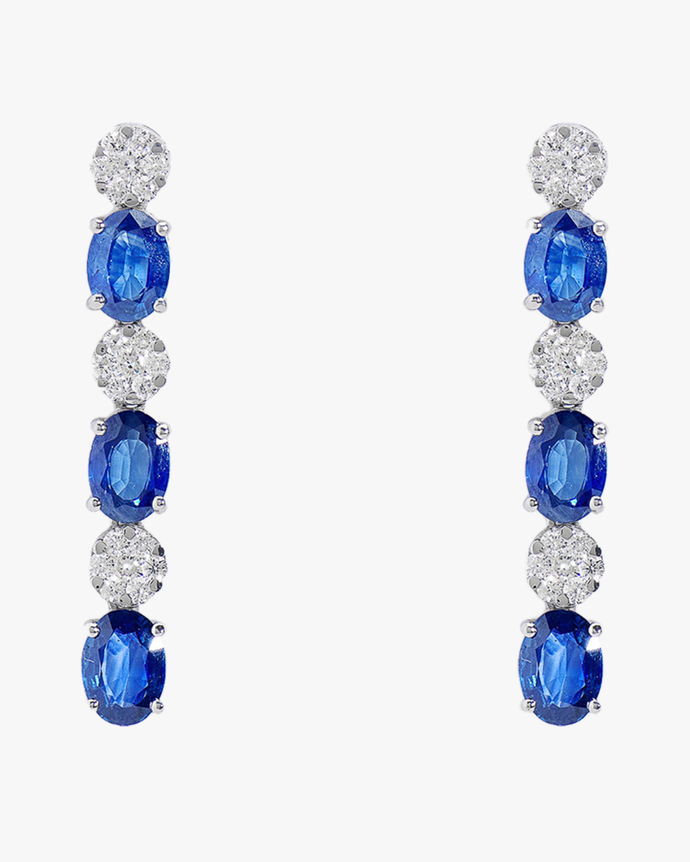 Sanjay Kasliwal Ryka Sapphire & Diamond Earrings 0