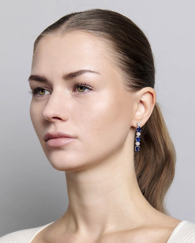 Sanjay Kasliwal Ryka Sapphire & Diamond Earrings 1