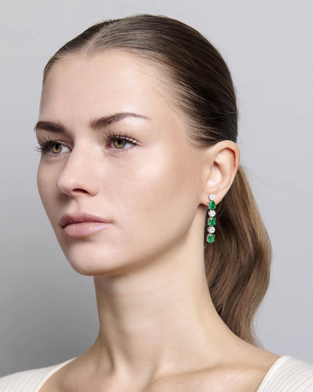 Sanjay Kasliwal Ryka Emerald & Diamond Earrings 2