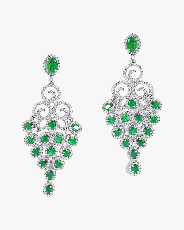 Sanjay Kasliwal Tuhi Emerald & Diamond Earrings 0