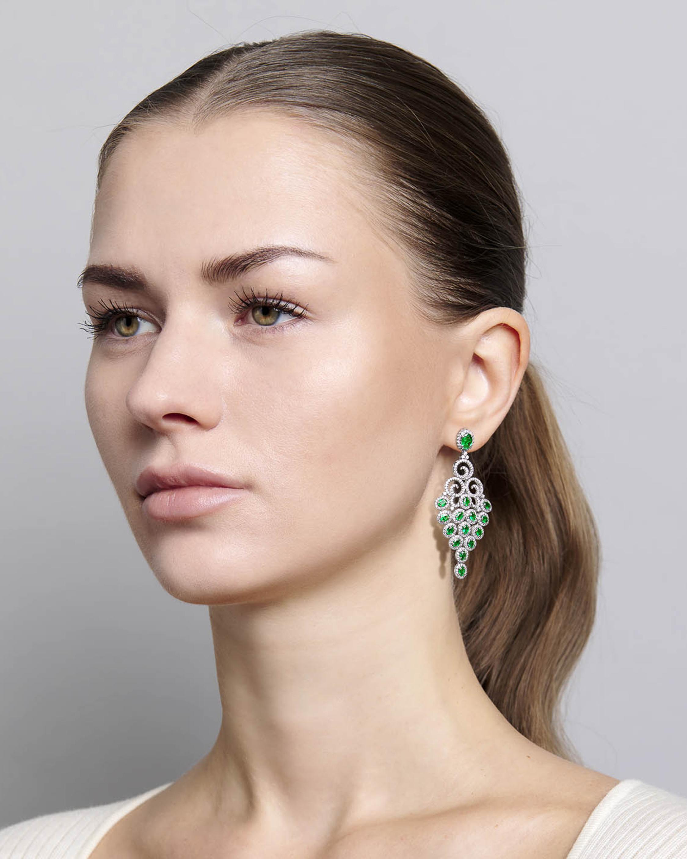 Sanjay Kasliwal Tuhi Emerald & Diamond Earrings 1