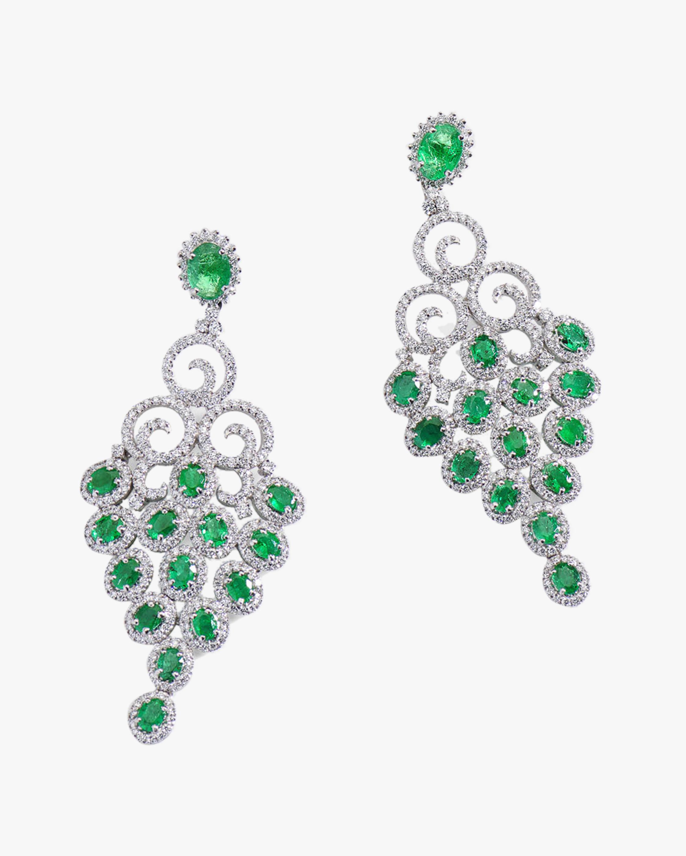 Sanjay Kasliwal Tuhi Emerald & Diamond Earrings 2