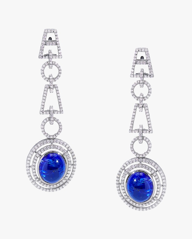 Sanjay Kasliwal Yamini Tanzanite & Diamond Earrings 0