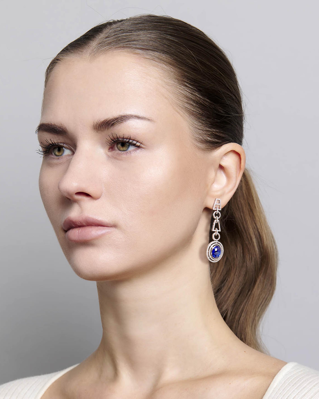 Sanjay Kasliwal Yamini Tanzanite & Diamond Earrings 2