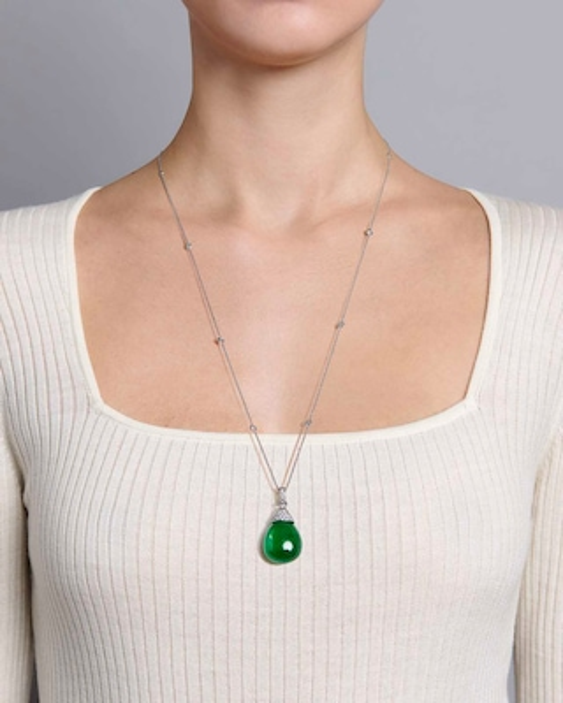 Sanjay Kasliwal Anda Emerald & Diamond Necklace 2