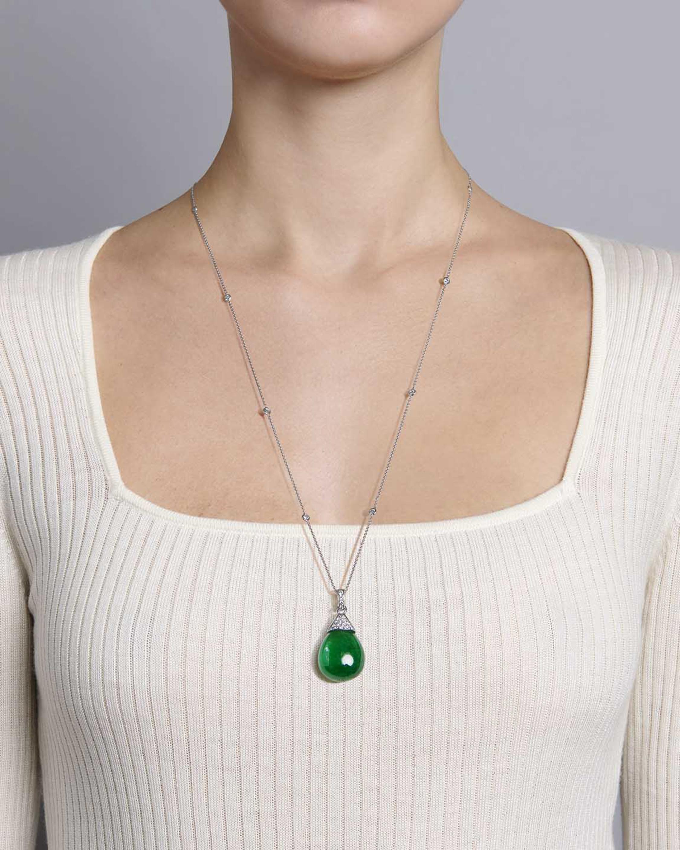 Sanjay Kasliwal Anda Emerald & Diamond Necklace 1