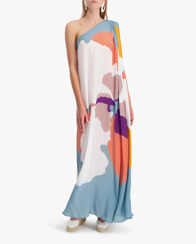Mala Chetty Blush Hibiscus One-Shoulder Dress 1