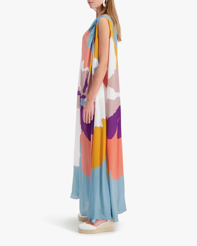 Mala Chetty Blush Hibiscus One-Shoulder Dress 3