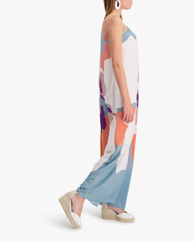 Mala Chetty Blush Hibiscus One-Shoulder Dress 4