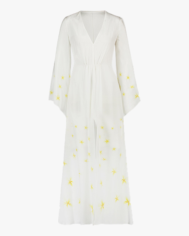 Mala Chetty Ivory Plumeria Dress 1