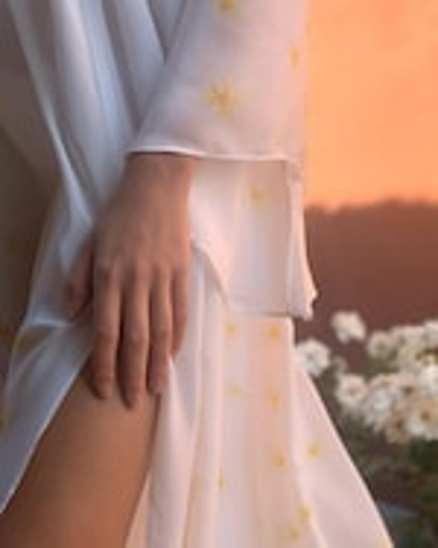 Mala Chetty Ivory Plumeria Dress 5