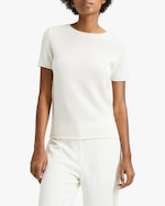 Theory Cashmere Short-Sleeve Sweater 3