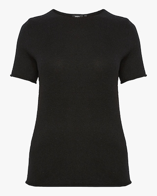 Theory Cashmere Short-Sleeve Sweater 1
