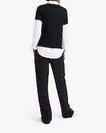 Theory Cashmere Short-Sleeve Sweater 2
