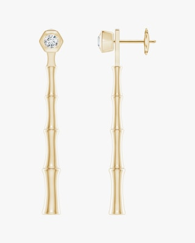 Natori Diamond Bamboo Drop Earrings 1