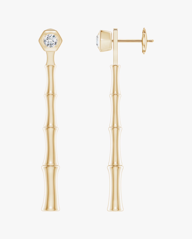 Natori Diamond Bamboo Drop Earrings 0