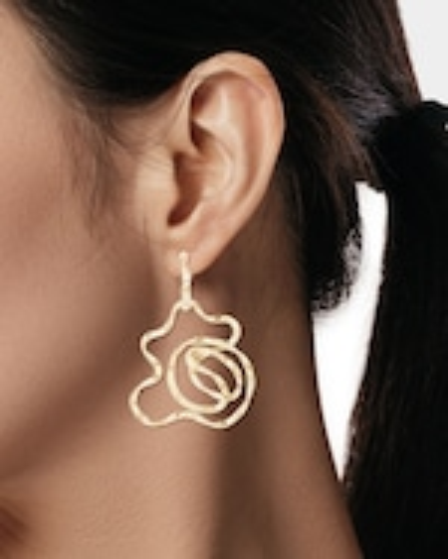 Natori Sakura Hoop Earrings 1