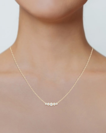 Natori Indochine Bamboo Diamond Journey Necklace 2
