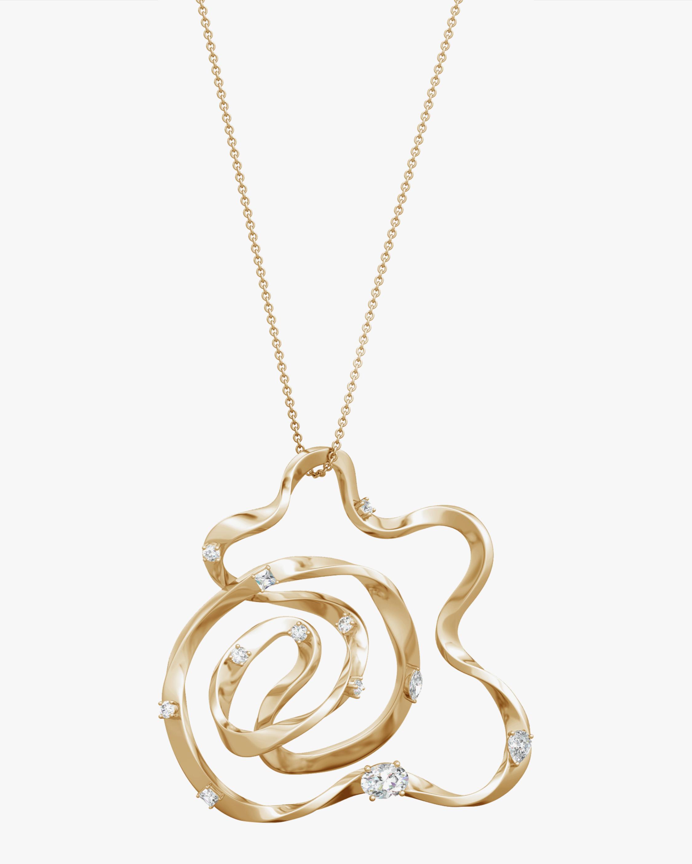Natori Dispersed Diamond Sakura Necklace 0