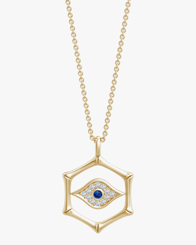 Natori Evil Eye Bamboo Pendant Necklace 1