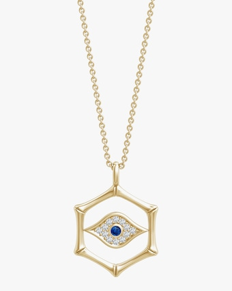 Natori Evil Eye Bamboo Pendant Necklace 1