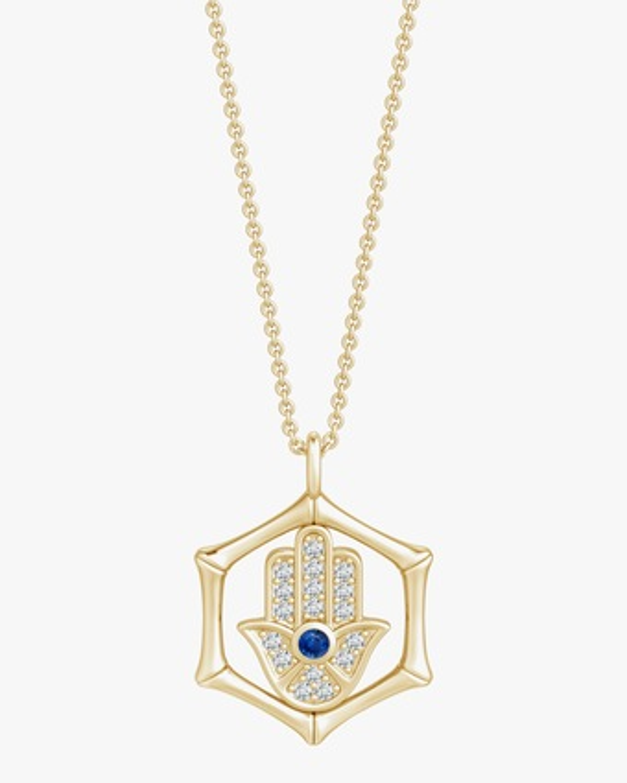 Natori Hamsa Bamboo Pendant Necklace 1